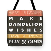 Backyard Rules Tote Bag