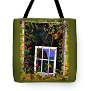 Backyard Window Tote Bag