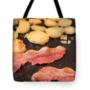 Bacon And Potatoes On A Griddle Tote Bag