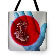 Bacteria Found On Hands Tote Bag