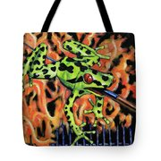 Bad Froggy In Hell Tote Bag