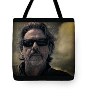 Badass Man In Sunglasses Stares Into The Unknown Tote Bag