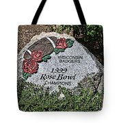 Badger Rose Bowl Win 1999 Tote Bag