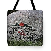 Badgers Rose Bowl Win 1994 Tote Bag