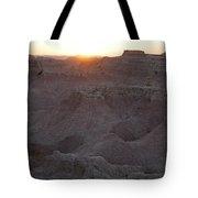 Badlands At Sunup Tote Bag