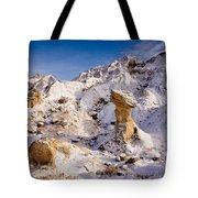Badlands Hoodoo In The Snow Tote Bag