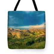 Badlands Np Yellow Mounds Overlook  Tote Bag