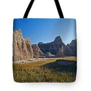Badlands Sunset On Wihite Sandstpone Tote Bag