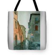 Bagnoregio Street In The Rain Tote Bag