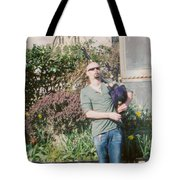 Bagpiper In Glastonbury Tote Bag