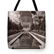 Bahai Temple Reflecting Pool Tote Bag