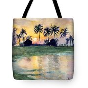 Bahama Palm Trees Tote Bag