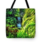 Bahamas - Tropical Waterfall Tote Bag