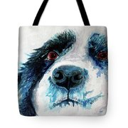 Bailey Our Border Collie Tote Bag
