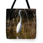 Bailey Tract Egret Two Tote Bag