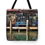 Bait Ice  Beer Shop On Bay Tote Bag by Dan Friend