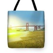 Baker Beach In San Francisco Tote Bag