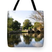 Bakewell Bridge And The River Wye Tote Bag