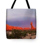 Balance Rock At Sunset, Arches National Park, Utah Usa Tote Bag