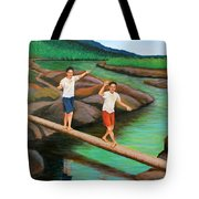 Balancing Life Through A Straight And Narrow Path Tote Bag