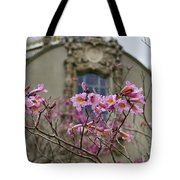 Balboa Park Building And Spring Flowers - San Diego Tote Bag