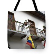 Balconies And Flags Tote Bag