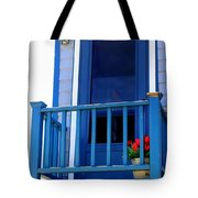 Balcony And Flower Pot Tote Bag