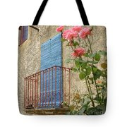 Balcony And Roses Tote Bag