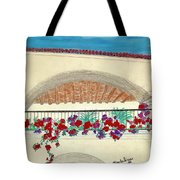 Balcony In Hilltop Village Of Vejer Spain Tote Bag