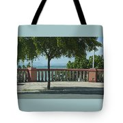 Balcony On The Beach In Naguabo  Puerto Rico Tote Bag