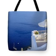 Balcony Over The Sea Tote Bag by Joana Kruse