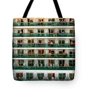 Balcony People Tote Bag by Perry Webster