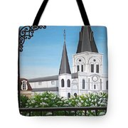 Balcony View Of St Louis Cathedral Tote Bag
