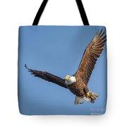 Bald Eagle And Fish Tote Bag