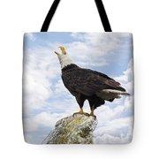 Bald Eagle Art - Speak Your Voice Tote Bag