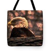 Bald Eagle Electrified Tote Bag