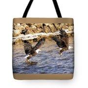 Bald Eagle Fishing Pano Tote Bag