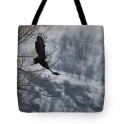 Bald Eagle In Flight-signed-#4014 Tote Bag