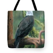 Bald Eagle In Pastel Tote Bag