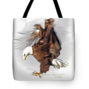 Bald Eagle Landing Tote Bag