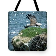 Bald Eagle Leaves Nest Tote Bag