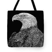 Bald Eagle Scratchboard Tote Bag
