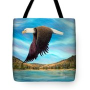 Bald Eagle Shuswap Rhapsody Tote Bag