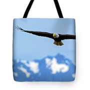 Bald Eagle Soars Over Hood Canal Tote Bag
