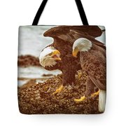 Bald Eagles Family Discussion Tote Bag