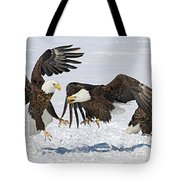 Bald Eagle's Tote Bag by Wesley Aston