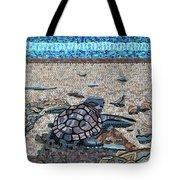 Bald Head Island, Loggerhead Sea Turtle Tote Bag