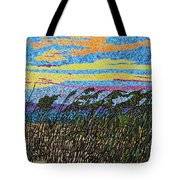 Bald Head Island, Sea Oat Sunset Tote Bag
