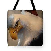 Bald-headed Eagle Sculpture Tote Bag