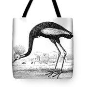 Balearic Crane Tote Bag